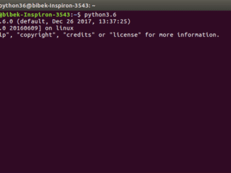 python 3.6 on ubuntu success