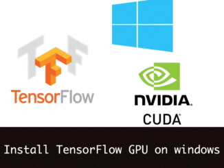 Install tensorflow GPU on windows