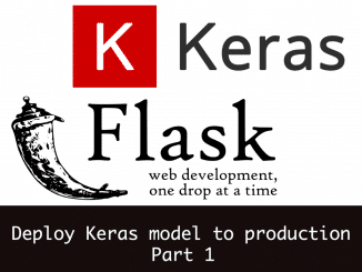 deploy keras model to production - part1