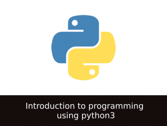 Introduction to programming using python3