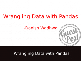 Wrangling data with python