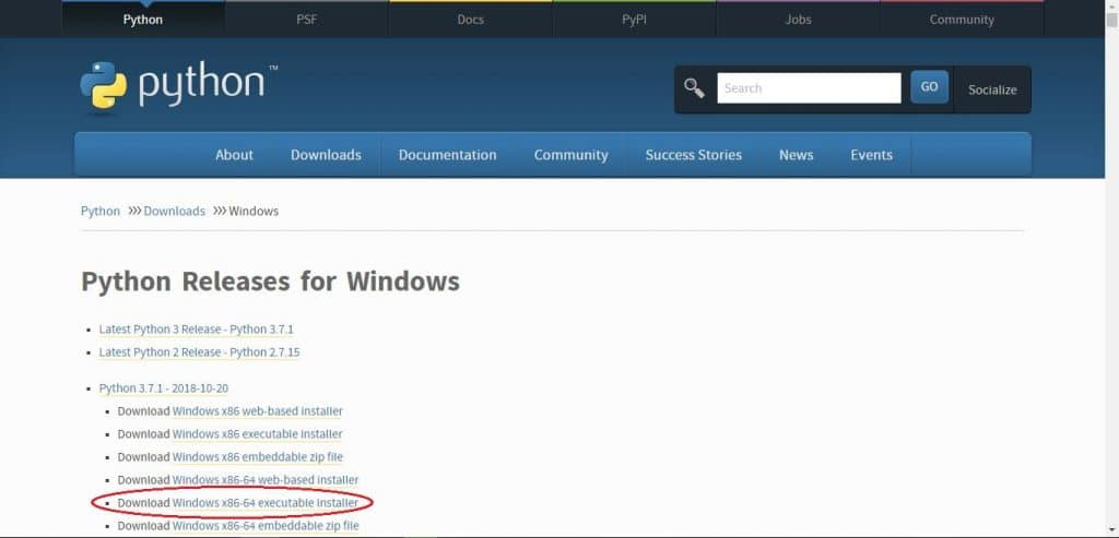 python idle download for windows 7 32 bit