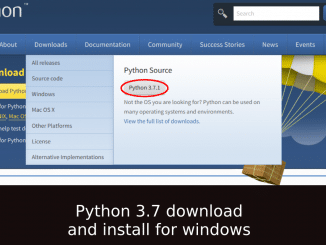 python 3.7 download and install for windows