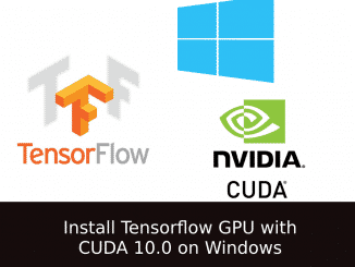 Tensorflow 1.12 windows, CUDA 10.0