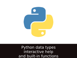Python interactive help and built-in functions
